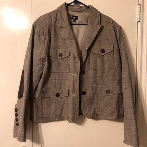 Army-look blazer